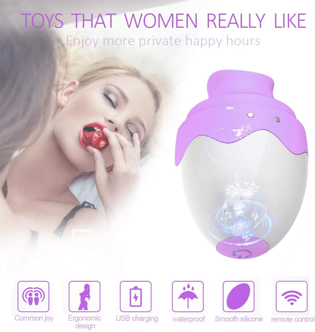 Female Oral Tongue Simulator,12+12 Frequency Clitorial Sucking Toy,T-Shirt,Handheld Vibrantor G-Spotter Stimulator for Women with Remote Clitorial Sucking Seix Toys,T-Shirt