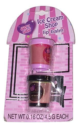 Just 4 Girls Ice Cream Shop 2 Piece Lip Balm Set ~ Strawberry & Chocolate
