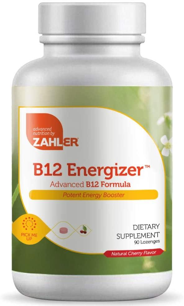 Zahler B12 Energizer, Potent Energy Booster, Vitamin B12 Methylcobalamin, Certified Kosher, 1000MCG (90 Lozenges)