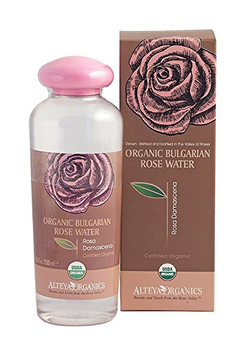 100% Natural Steam-Distilled Organic Rosa Damascena Water. (Bulgarian) - USDA Certified Organic - 8.5 Fl.oz/250ml