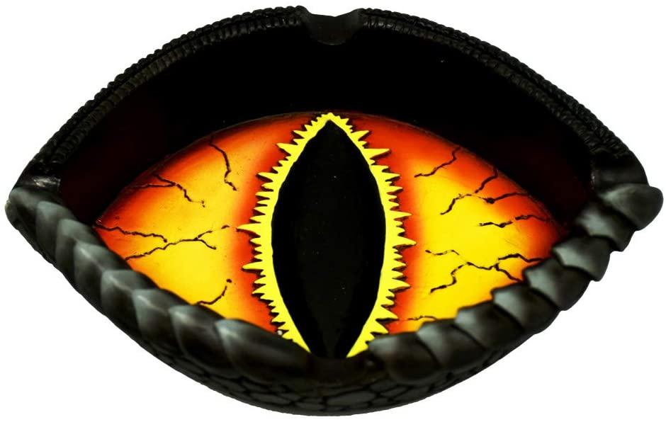 Fantasy Gifts Dragon Eye Polyresin Ashtray - 5.3