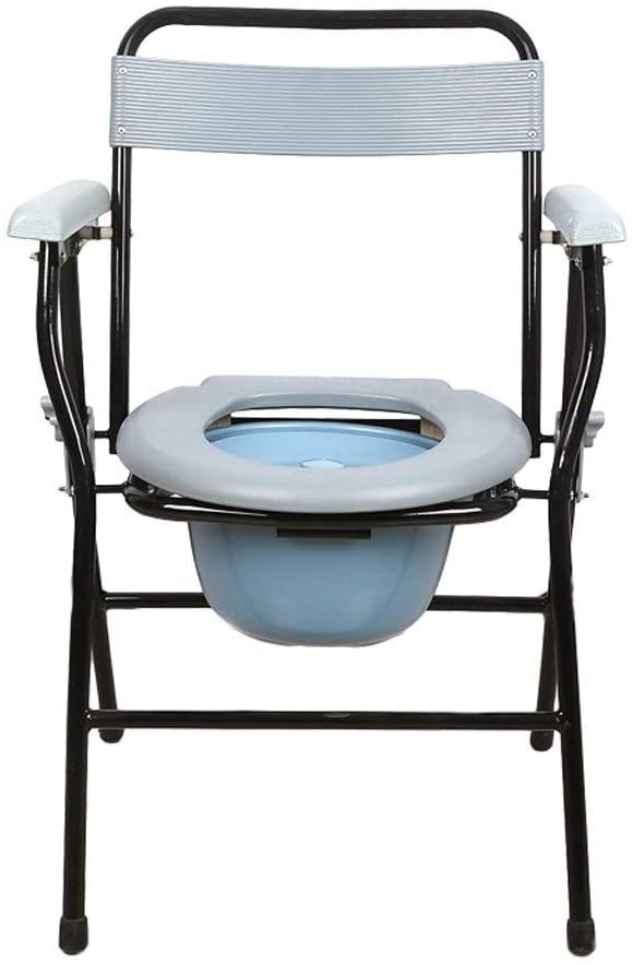 NDW Bath Chair Toilet Seat Collapsible Waterproof Stainless Steel Bathroom Stools Potty Chair 0224