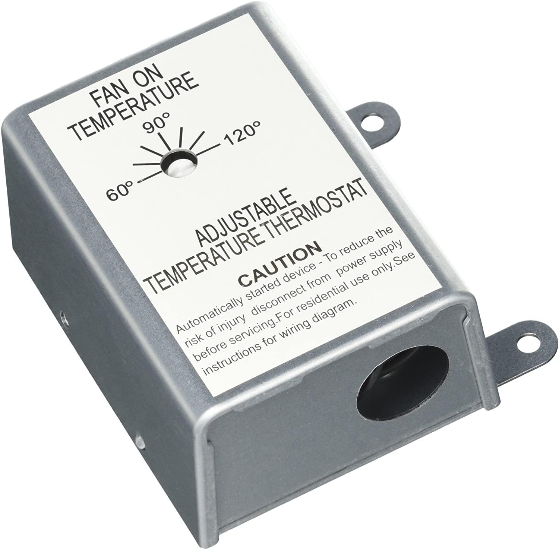 Nutone RFTH95 Attic Ventilator Replacement Thermostat, Automatic