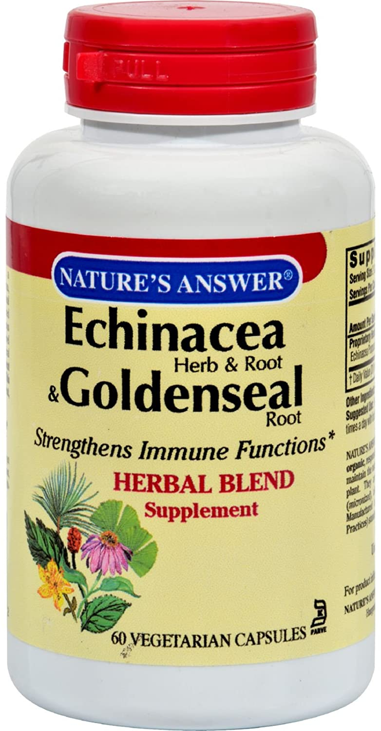 Nature'S Answer Echinacea Goldenseal 60 Vcap