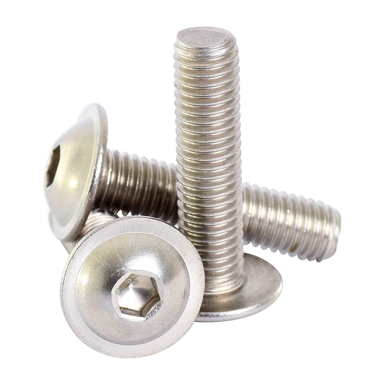 Bolt Base 6mm A2 Stainless Steel Flanged Button Head Allen Bolt Hex Socket Screw M6 X 40 - 30