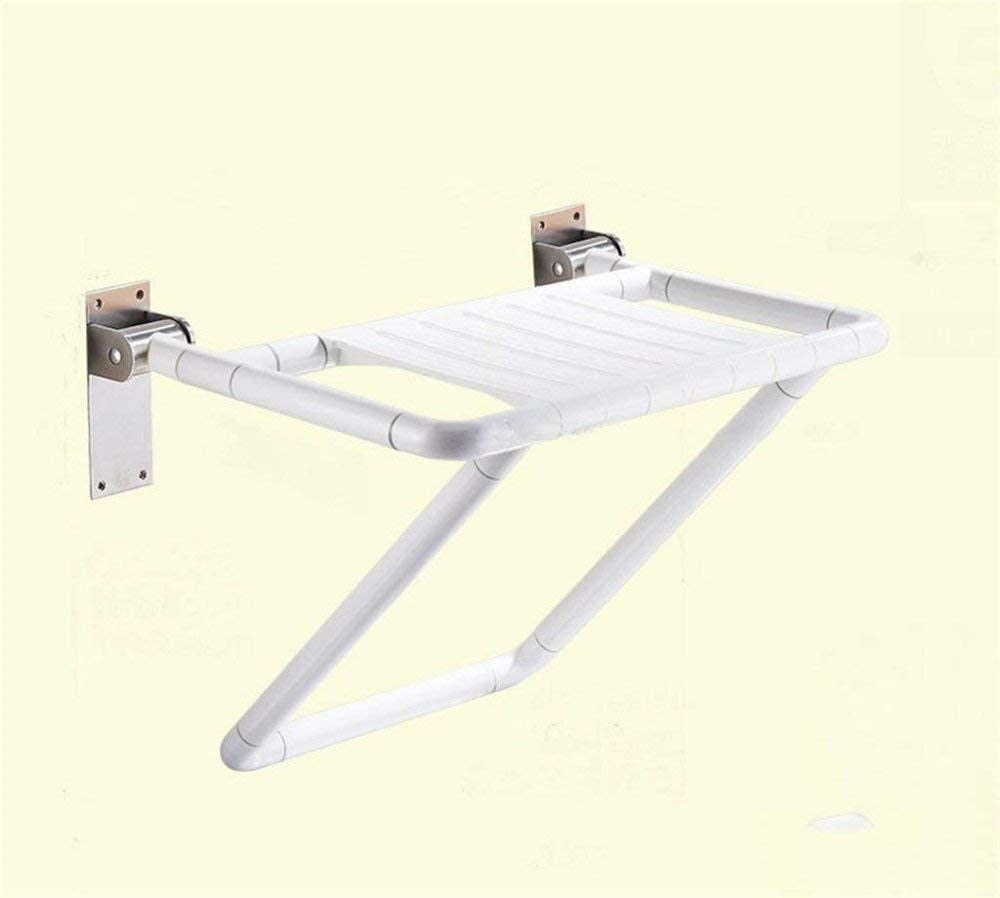 MMED Folding Stool Shower Seat Toilet Chair, Wall Mounted Bathroom Shower Chair for Barrier-Free Disabled People 0210