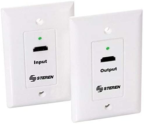 Steren HDMI Over Category-6 Extender Wall Plates (Pair)