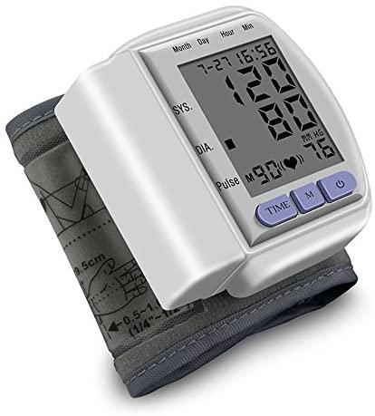 JUJU MALL-Digital LCD Upper Arm Cuff Blood Pressure Pulse Automatic Monitor Heart Meter