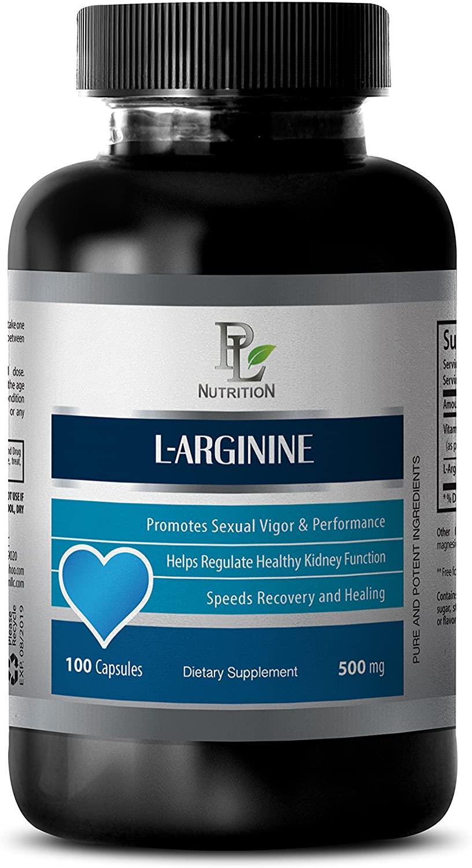 Natural Sexual Enhancer for Men - L-ARGININE (500Mg) - L-arginine Weight Loss - 1 Bottle 100 Capsules