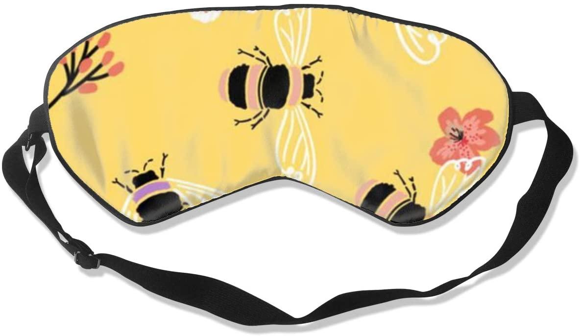 Bee Flower Women Men Eye Shade Cover for Sleeping,Eye Mask for Night Sleep