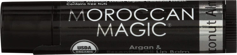 Moroccan Magic, Lip Balm Argan Oil Infused Coconut Almond, 0.15 Ounce