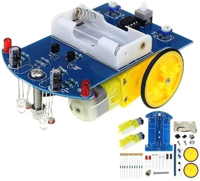 Bin Zhang DIY Kit Intelligent Tracking Line Smart Car Kit TT Motor Electronic DIY Kit Smart Patrol Automobile Parts DIY Electronic