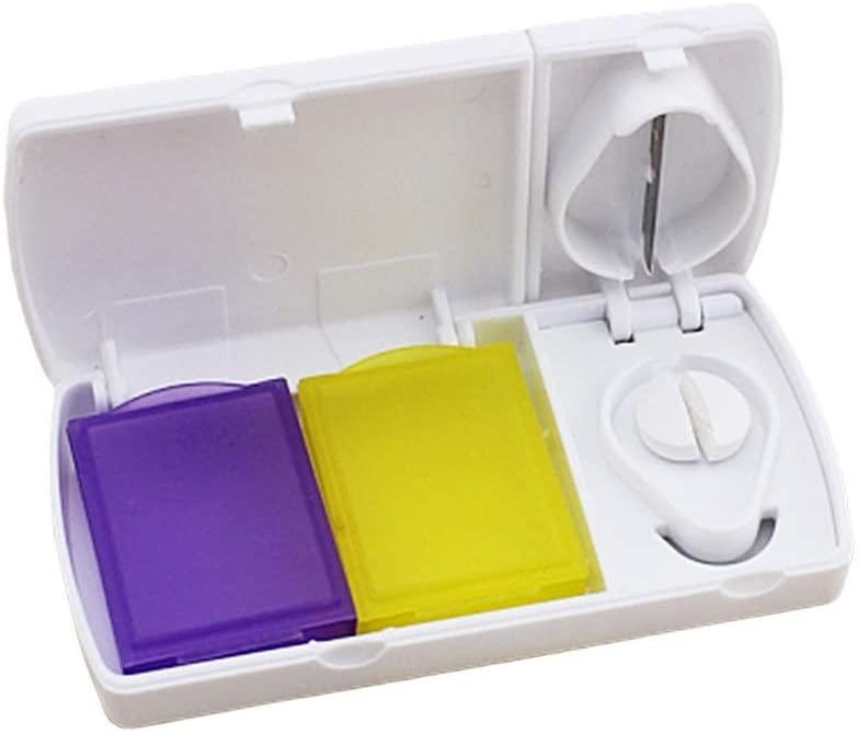 HCZ Pill Box Dual Grids Pill Box Mini Partition Medicine Tablets Dispenser Portable Pill Storage Case Pill Container Accessories