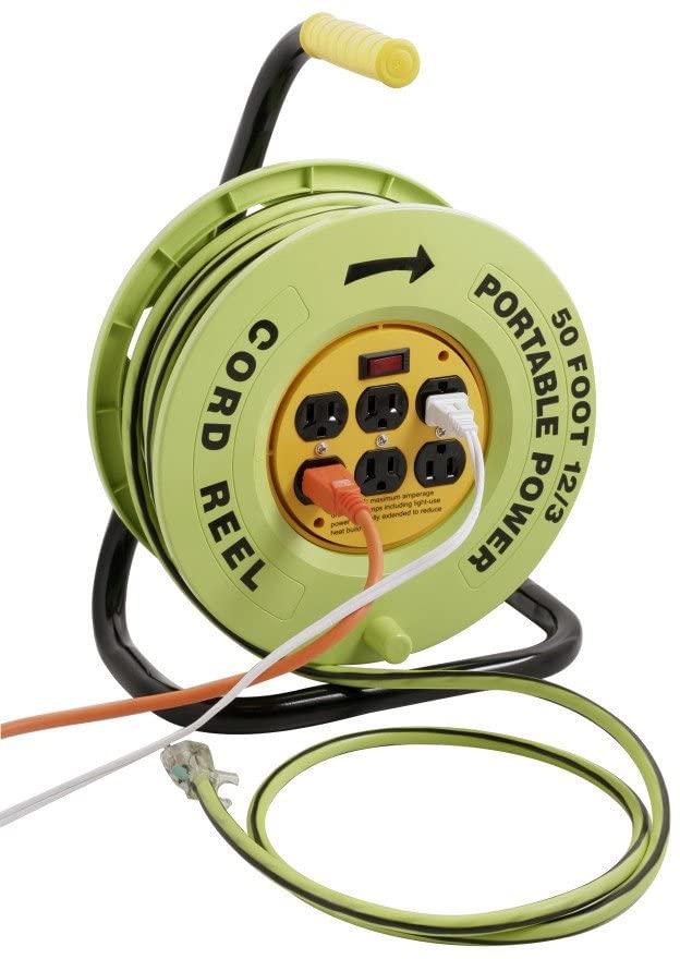 Designers Edge E238 Extension Cord, 12/3-Gauge, Vivid Green