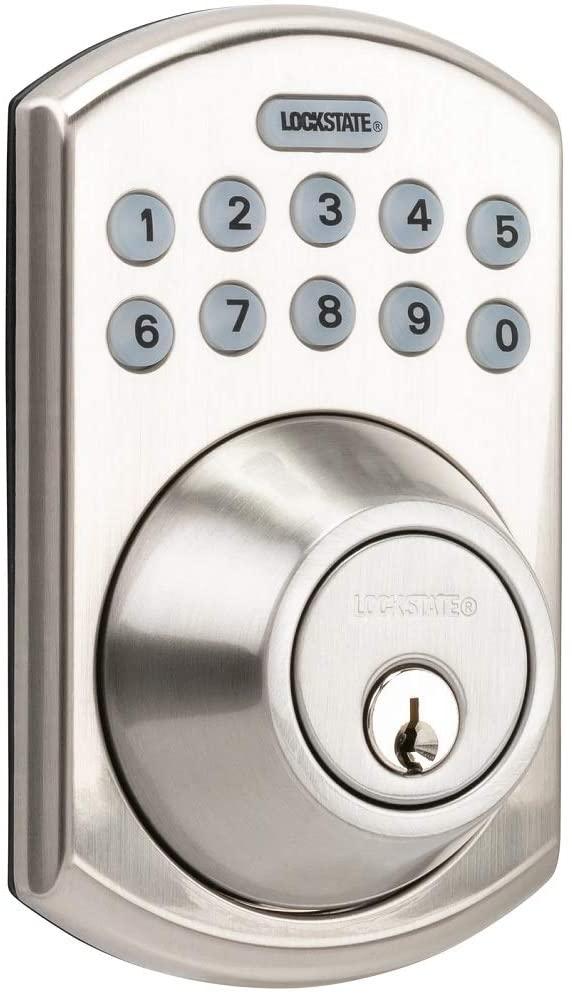 LockState RemotLock Residential WiFi Deadbolt Smart Lock Satin Chrome