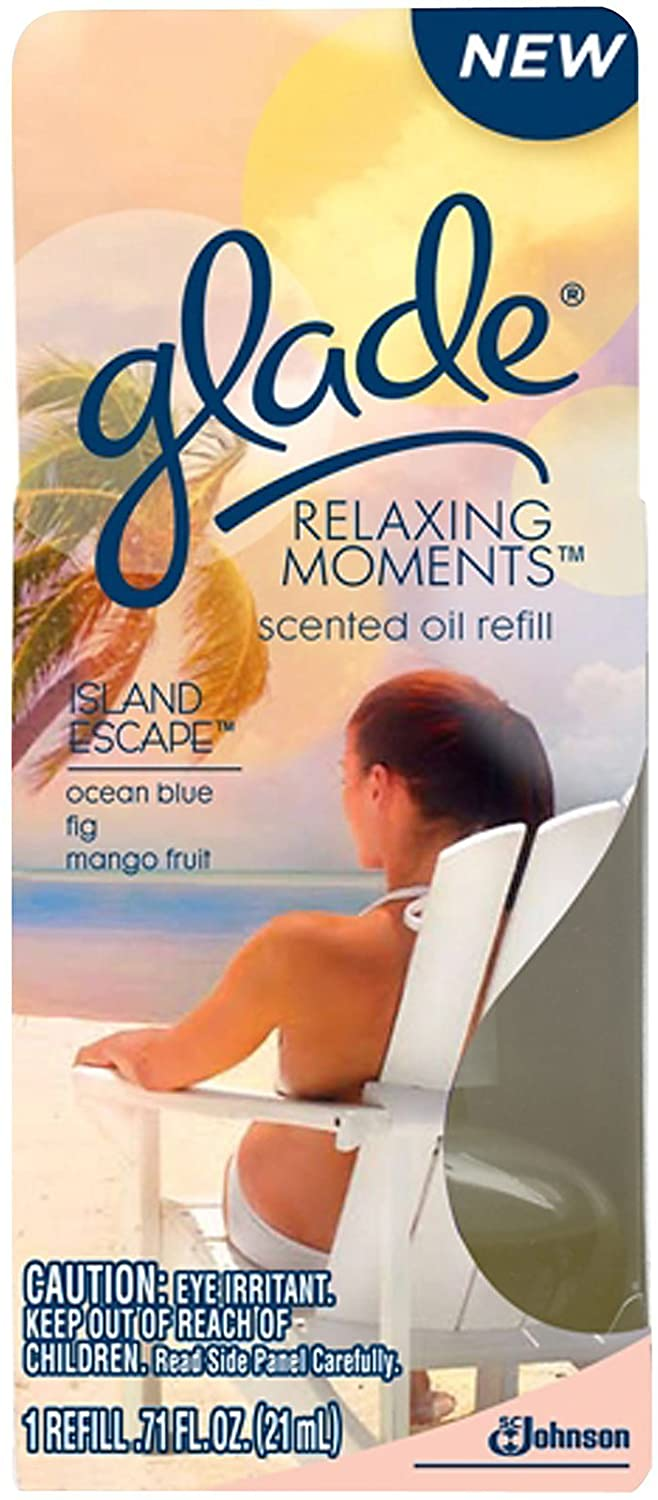 Glade Relaxing Moments Plugins Scented Oil 1 Ct Refill-Island Escape-1 ct.
