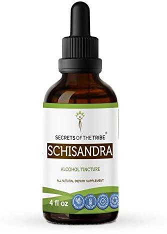 Schisandra Tincture Alcohol Extract, Organic Schisandra (Schisandra Chinensis) Dried Berry (4 FL OZ)