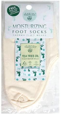 Earth Therapeutics Foot Socks, Moisturizing, 1 pair (Pack of 2)