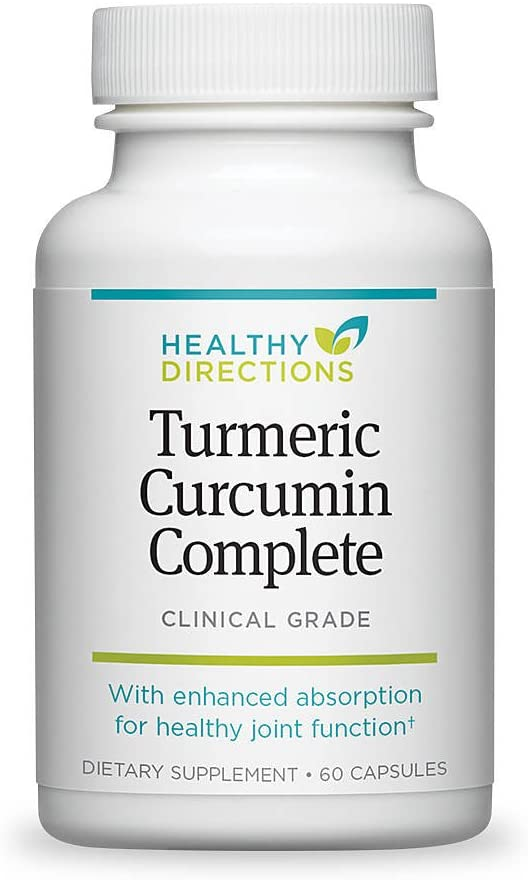 Healthy Directions Turmeric Curcumin Complete Supplement for Joint Pain Relief and Antioxidant Support, 60 softgels (30-Day Supply)