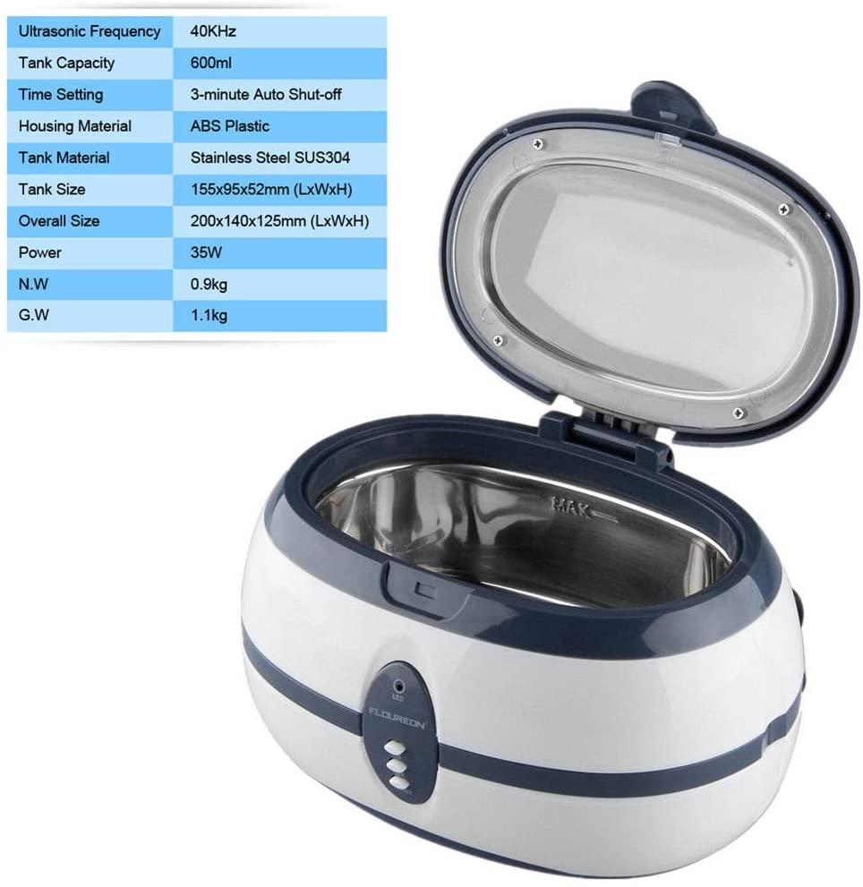 GTI Ultrasonic Cleaner Bottle Baby Jewelry Stainless Steel Heater