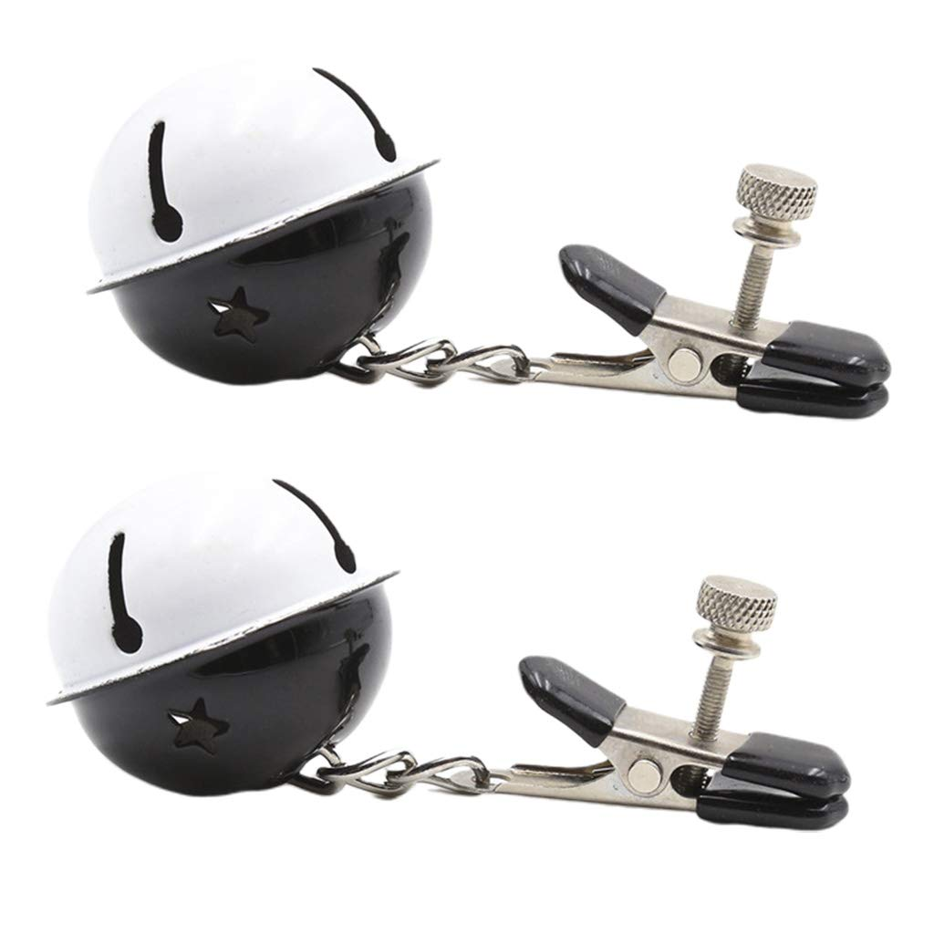 chefensty 1 Pair Metal Νiṗṗlѐ Clip with Bell Flirting Bondage Breast Clamps Six Toys