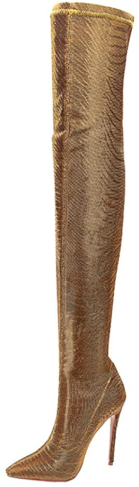 The Most Womens Stretch Thigh High Over The Knee Boots
