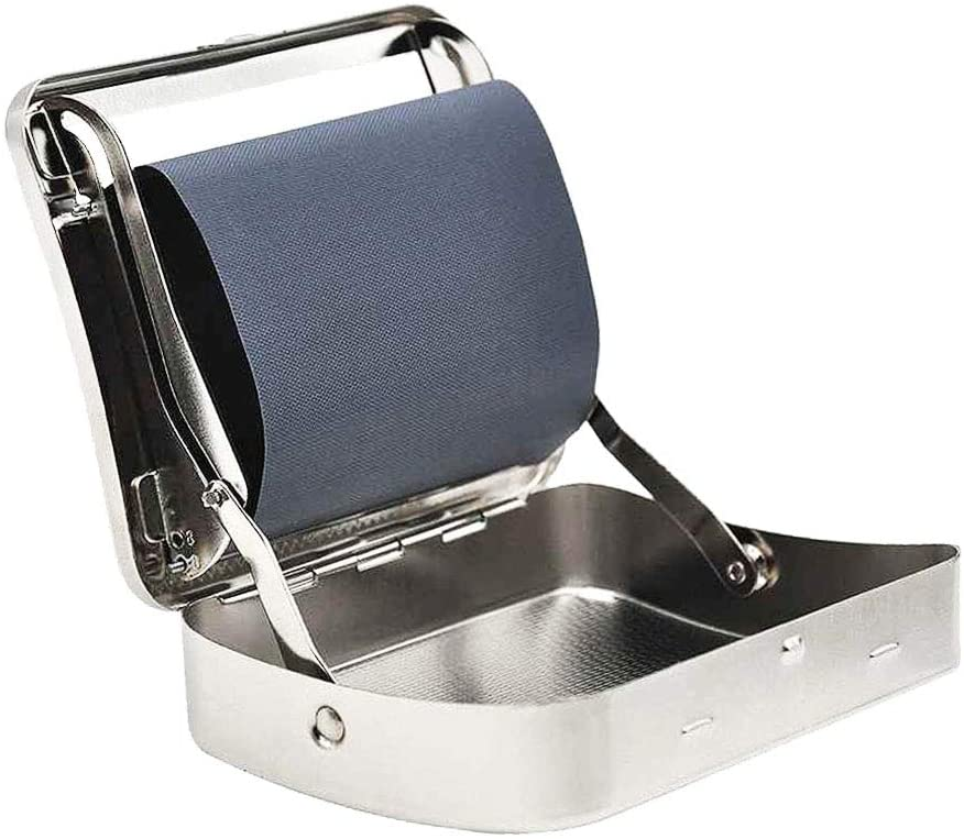 78mm Stainless Steel Adjustable Automatic Cigarette Rolling Box