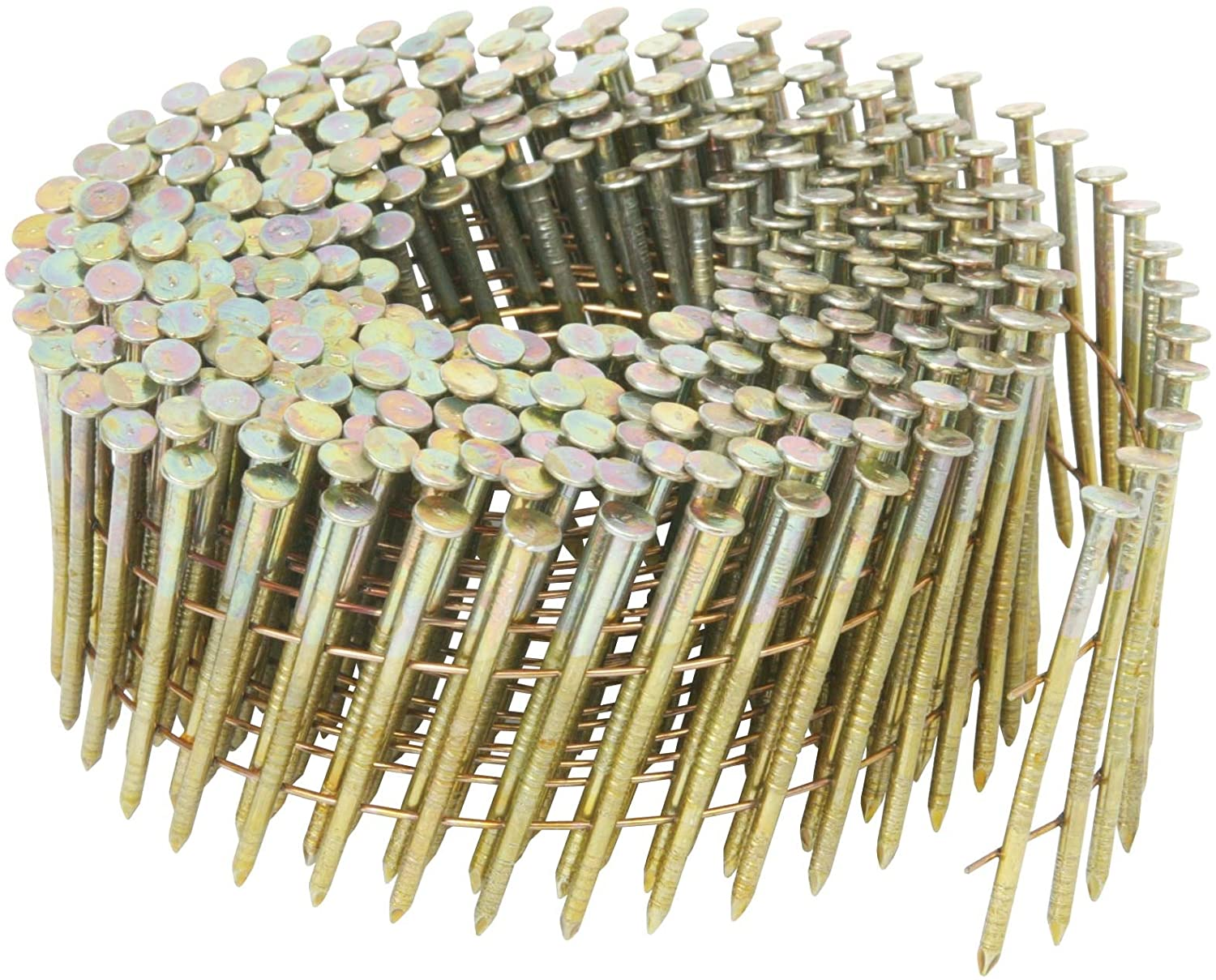 Metabo HPT 13339HPT 2-1/4 in. x 0.092 in. Smooth Shank Electro-Galvanized Wire Coil Siding Nails for NV65AH | 3600 Count