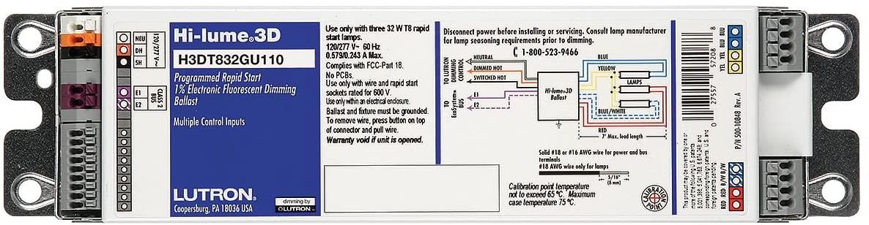 Lutron H3DT540GU110, Fluorescent Dimming Ballast