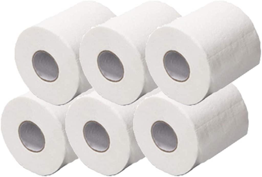 6 Rolls White Toilet Paper, Smooth Soft Professional Series Premium 3-Ply Toilet Paper, Rapid Dissolving Toilet Paper