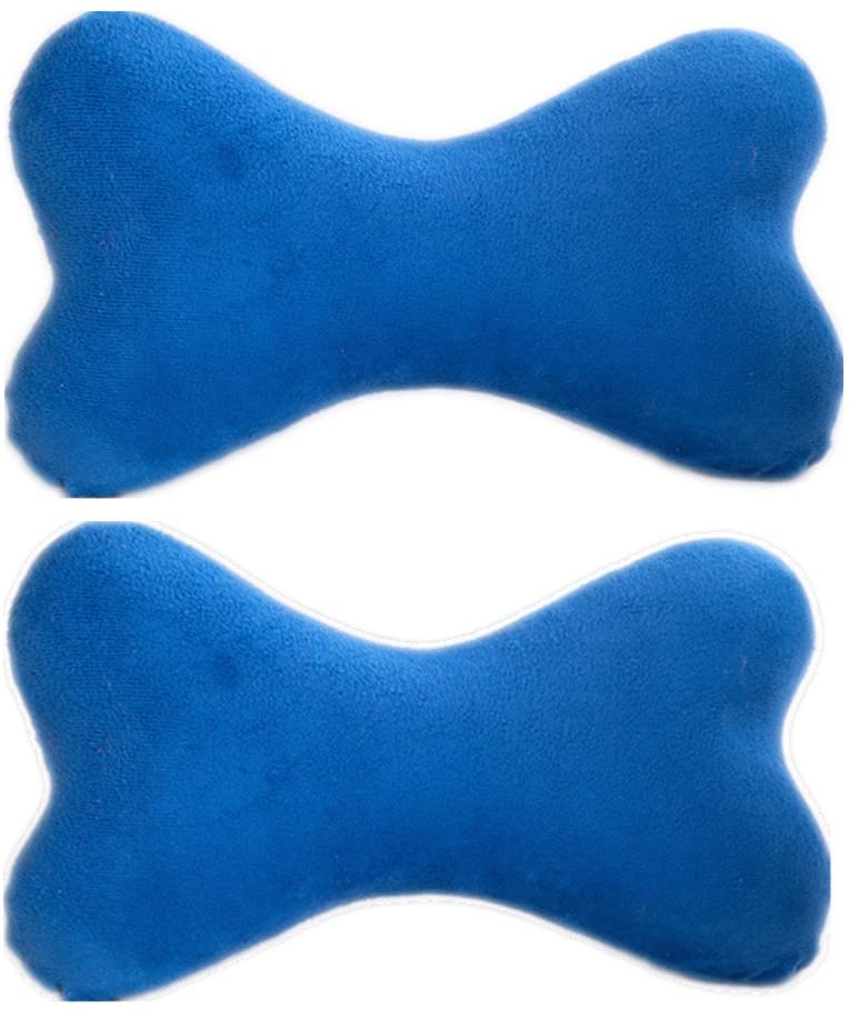 High 8 Store 2 Pack-Dog Bone Pillow/Neck Pillow/car Pillow/Memory Foam Neck Pillow/Neck Rest Pillow/Car Neck Pillow- with Washable Soft Microfiber Travel Pillow Case- The Ultimate in Comfort,Blue