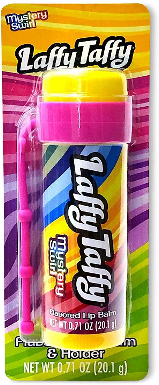 Taste Beauty (1) Stick Laffy Taffy Mystery Swirl Flavored Giant Lip Balm