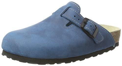 Wörishofener Fußform Women's Bio Health Blue Leather Clog 6