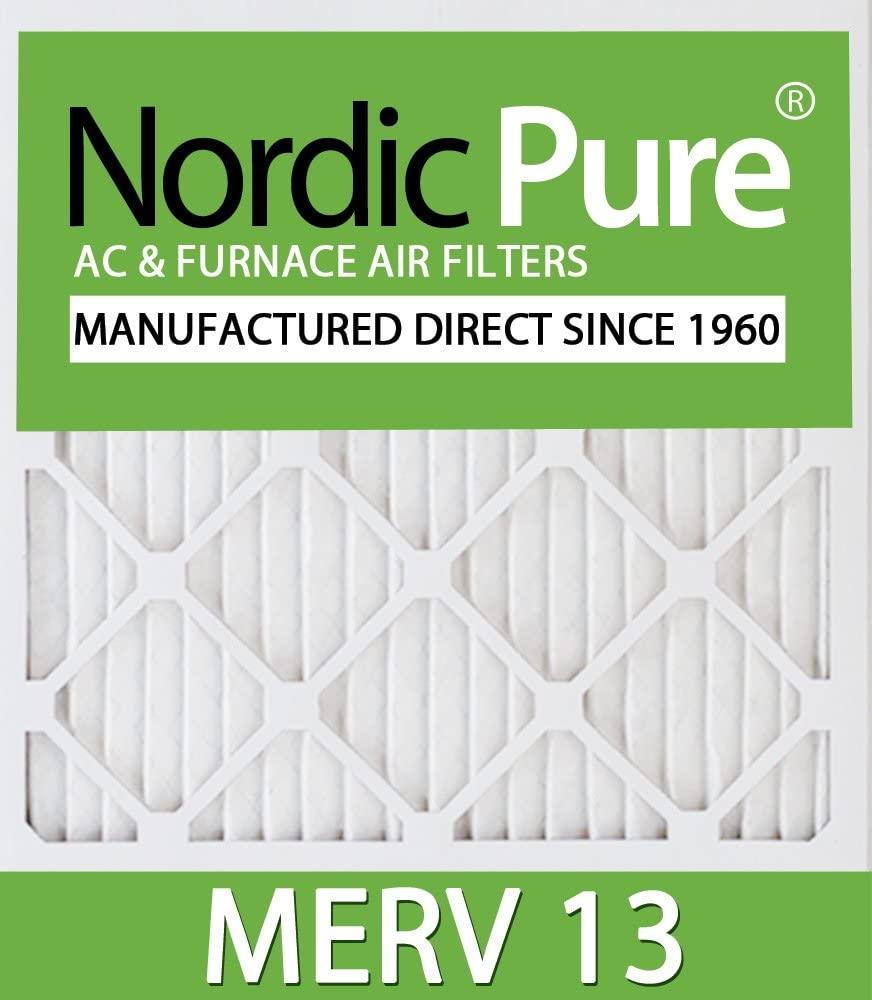 10x10x1 Exact MERV 13 AC Furnace Filters Qty 12
