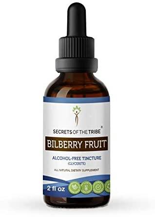 Bilberry Fruit Tincture Alcohol-Free Extract, Organic Bilberry (Vaccinium Myrtillus) Leaf 2 oz