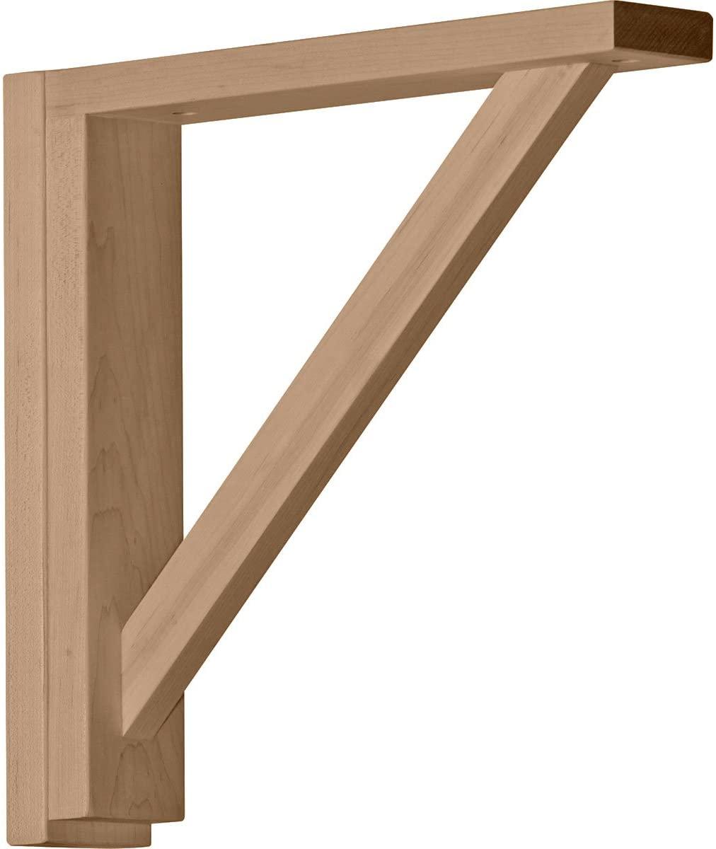 Ekena Millwork BKT02X12X12TRRO-CASE-2 2 1/2 inch W x 12 3/4 inch D x 12 1/4 inch H Traditional Shelf Bracket, Red Oak (2-Pack),