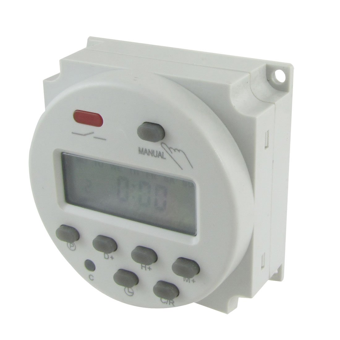 uxcell a12031200ux0079 DC 24V Digital LCD Power Programmable Timer Time Switch Relay 16A