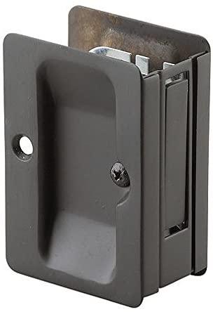 Onward 1700ORBPSBC Pocket Door Pull with Passage Lock - Rectangular, Oil-Rubbed Bronze