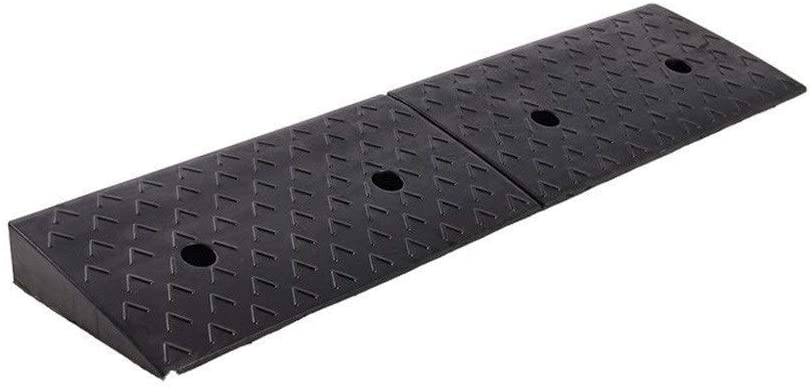 11 way bike CSQ-Ramps Non-Slip Ramps, Black Rubber Service Ramps Factory Pier Loading Ramps Sturdy Wear-Resistant Vehicle Ramps Height: 3-10CM Kerb Ramps (Color : Black, Size : 983010CM)