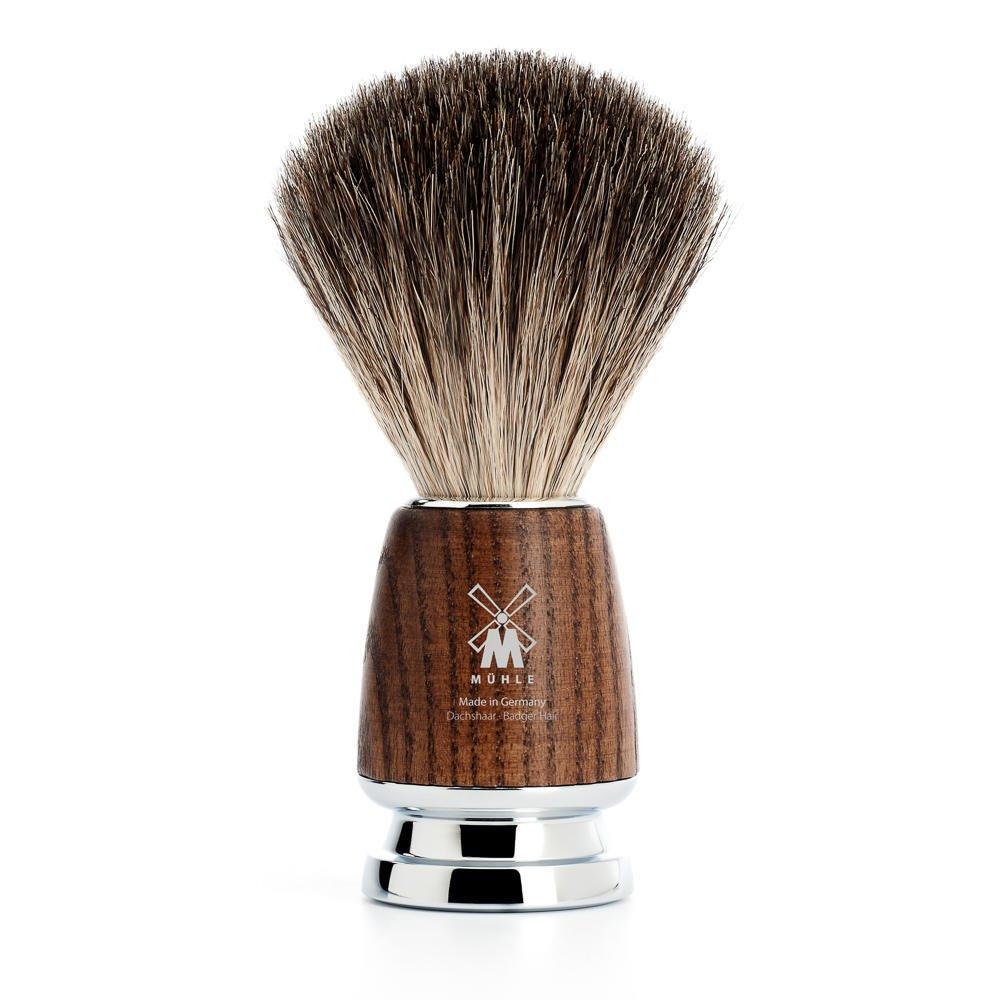 MÜHLE RYTMO Steamed ash Pure Badger Shaving Brush