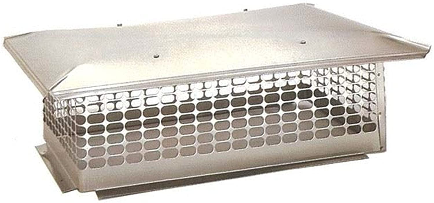 The Forever Cap CCSC1717 17 x 17-Inch Multi Flue Stainless Steel Crown Mount Chimney Cap, 1-Pack