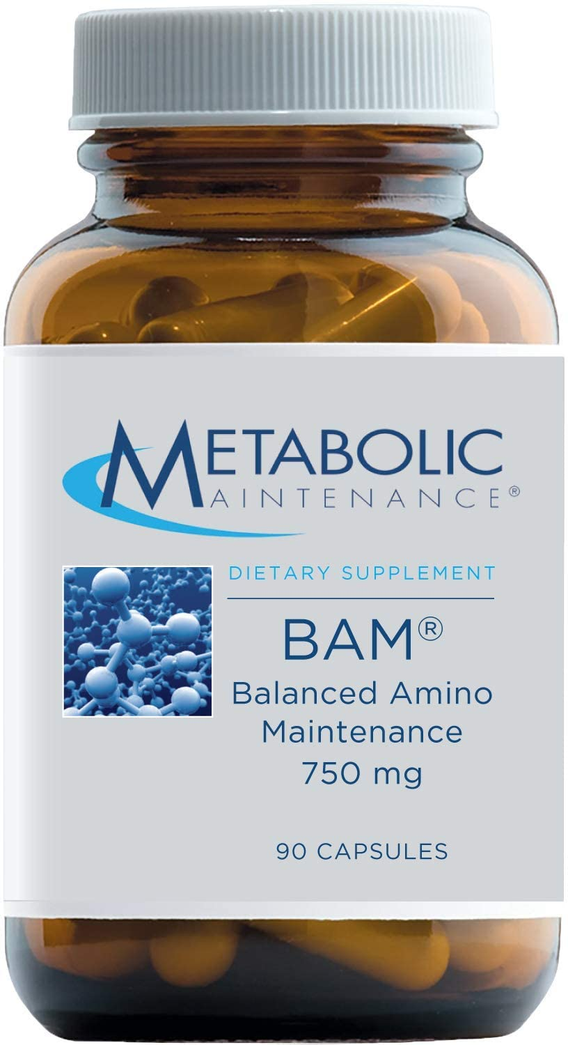 Metabolic Maintenance BAM Balanced Amino Maintenance - Free Form Amino Acid Supplement with Vitamin B6 + Chromium - Energy, Detox + Mood Support, Promotes Muscles + Protein Synthesis (90 Capsules)