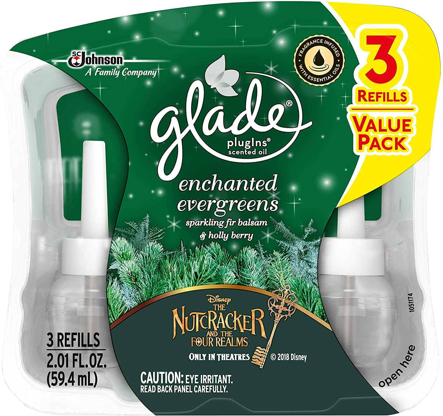 Glade Holiday Collection 2018 Enchanted Evergreens 1-Pack of 3