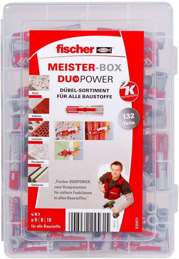 Fischer 535971Master Box Duo Power Universal Dowel Pack of 132)