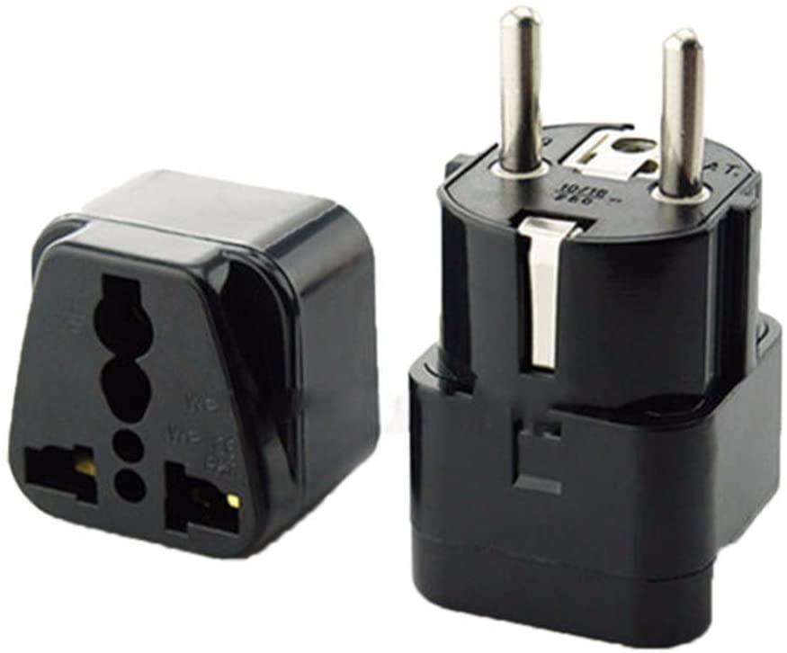 [5-Pack] Multifunction Universal AU UK US to EU AC Power Socket Plug Travel Charger Adapter Converter European US Portable Charging Plug