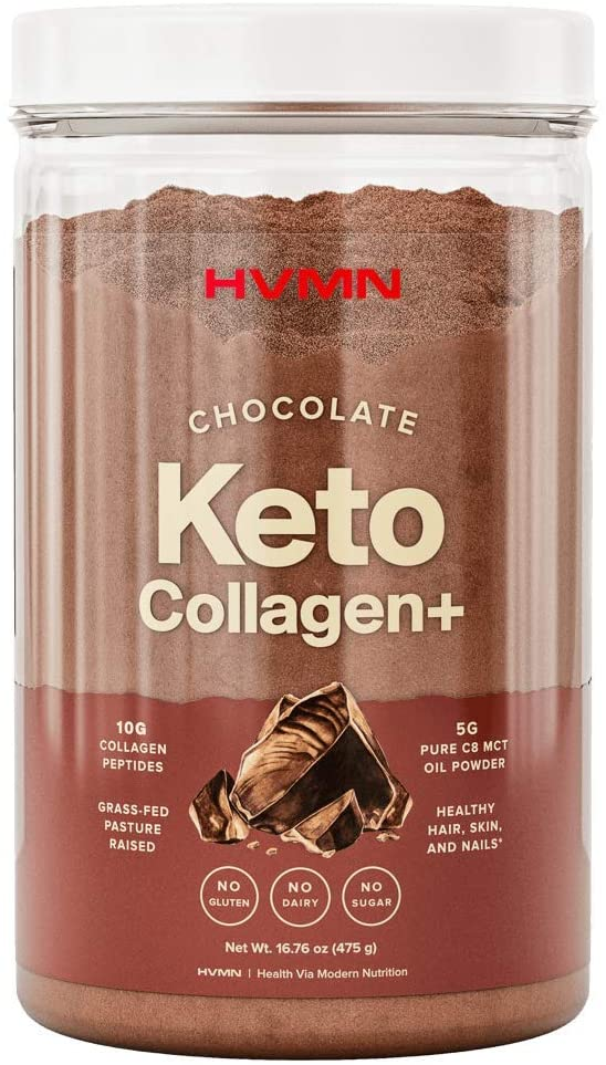 H.V.M.N. Keto Collagen+ Protein Powder: Collagen Supplement with Collagen Peptides & MCT Powder - Keto Diet Approved - 25 Servings (Chocolate)