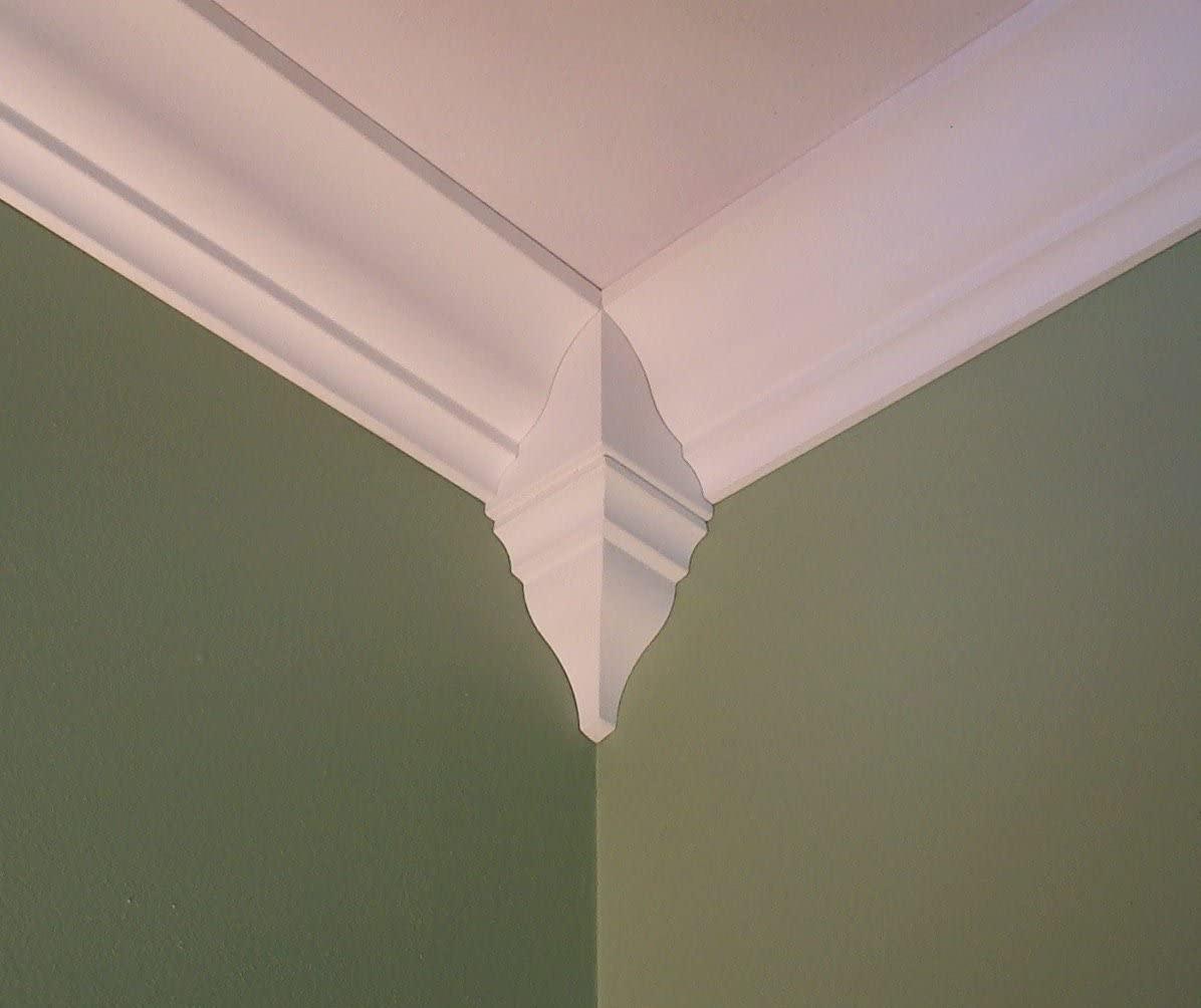 Crown Molding Corner Inside Block Fits 6 1/2 - 7 1/4 Inch Crown Molding
