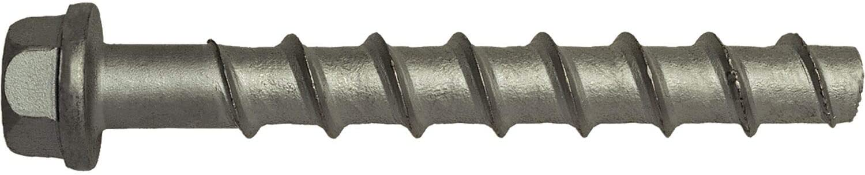Mungo 5501010 Betonschraube 10x100 zinklamellenbeschichtet Inhalt Stück Concrete Screw MCS-S 10 x 100 zinc Lamella-Coated Contents: 50 Pieces, Silver