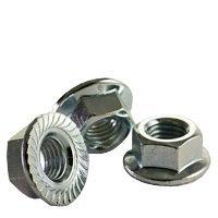 M12-1.75 CLASS 8 HEX SERRATED FLANGE NUT COARSE ZINC CR+3 DIN 6923 / ISO 4161, Size: M12-1.75, Length:, Material: Steel, Finish: Zinc, Thread Type: UNC (Metric) (Quantity: 100)