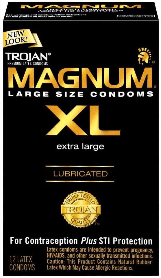 Trojan Magnum Extra Lg Lub 12's